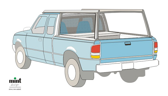 Pickup Truck Utility Rack Accessory - Concept B