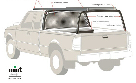 Pickup Truck Utility Rack Accessory, Concept A
