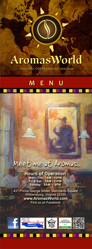 AromasWorld Menu