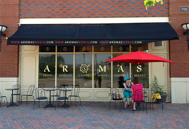 AromasWorld with exterior window graphics