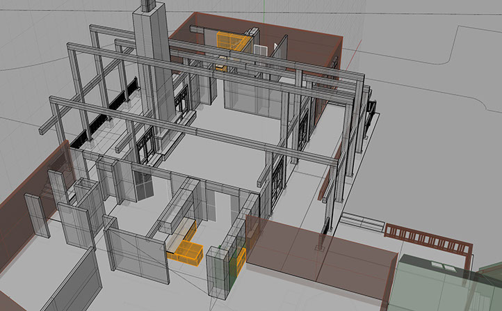 3D Room analysis of Timberframe house.