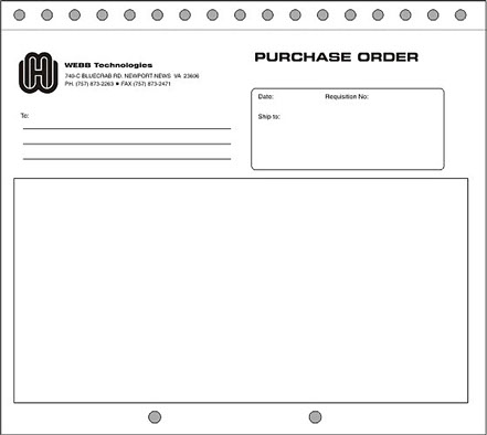 Webb Technologies Identity-Purchase Order Form