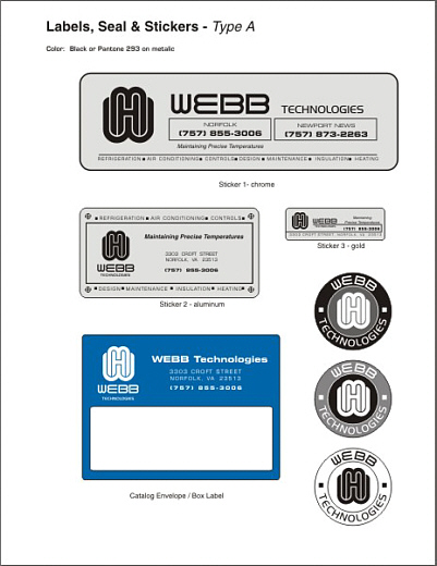 Webb Technologies Identity-Label and Sticker Design